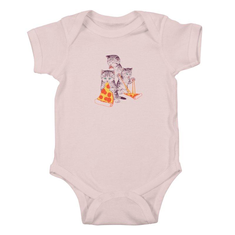 Pizza Kittens Kids Baby Bodysuit by Hillary White