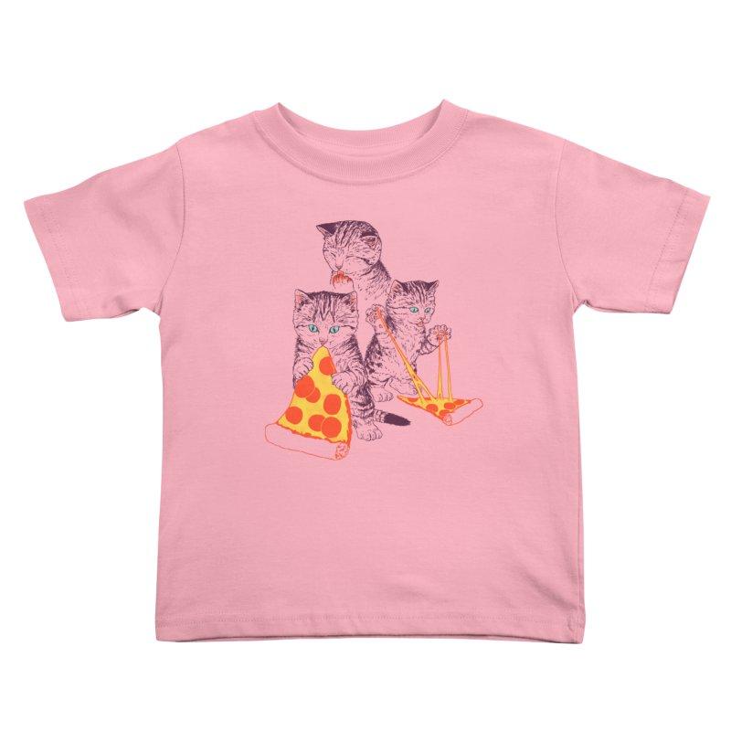 Pizza Kittens Kids Toddler T-Shirt by Hillary White