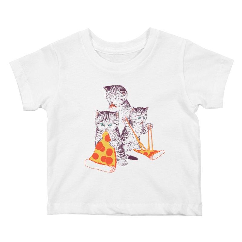 Pizza Kittens Kids Baby T-Shirt by Hillary White