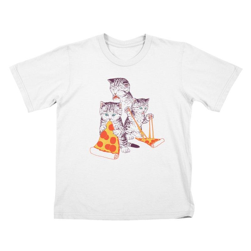 Pizza Kittens Kids T-Shirt by Hillary White