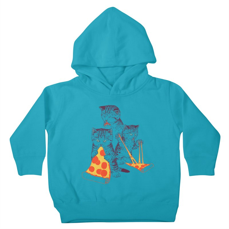Pizza Kittens Kids Toddler Pullover Hoody by Hillary White