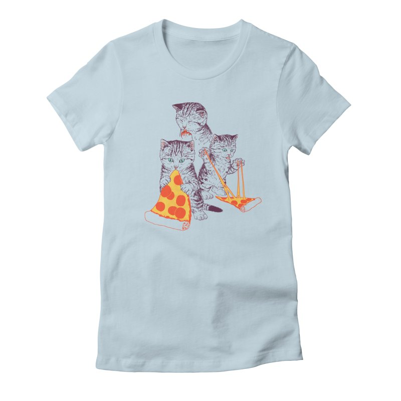 Pizza Kittens Women's Fitted T-Shirt by Hillary White