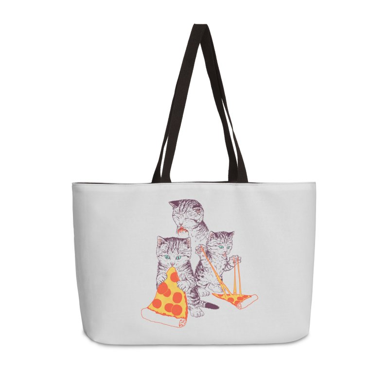 Pizza Kittens Accessories Weekender Bag Bag by Hillary White