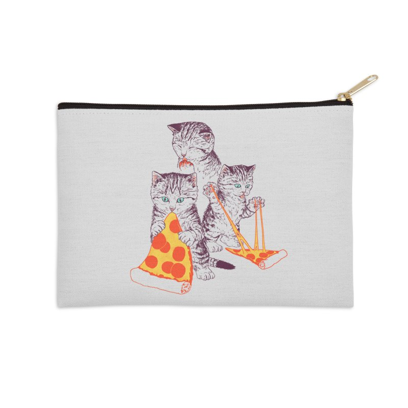 Pizza Kittens Accessories Zip Pouch by Hillary White