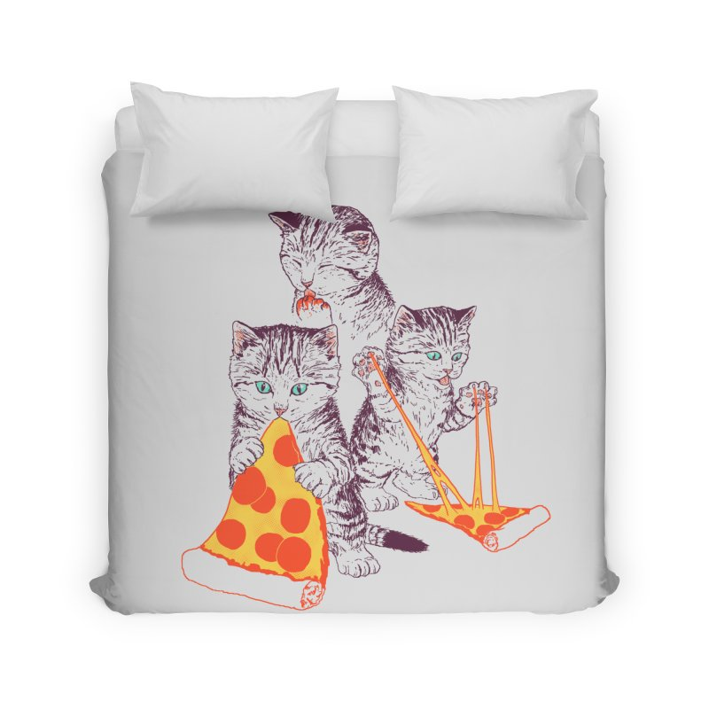 Pizza Kittens Home Duvet by Hillary White