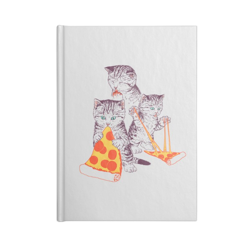 Pizza Kittens Accessories Lined Journal Notebook by Hillary White