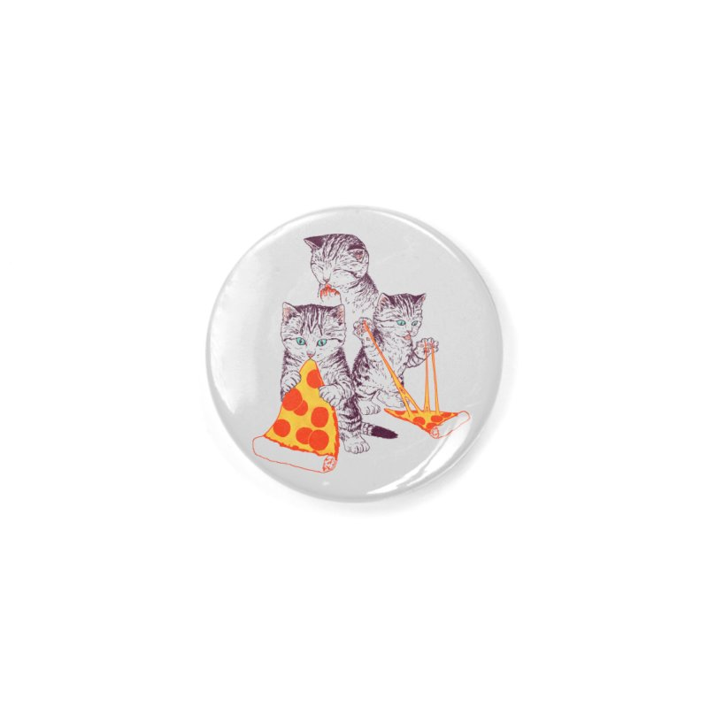 Pizza Kittens Accessories Button by Hillary White