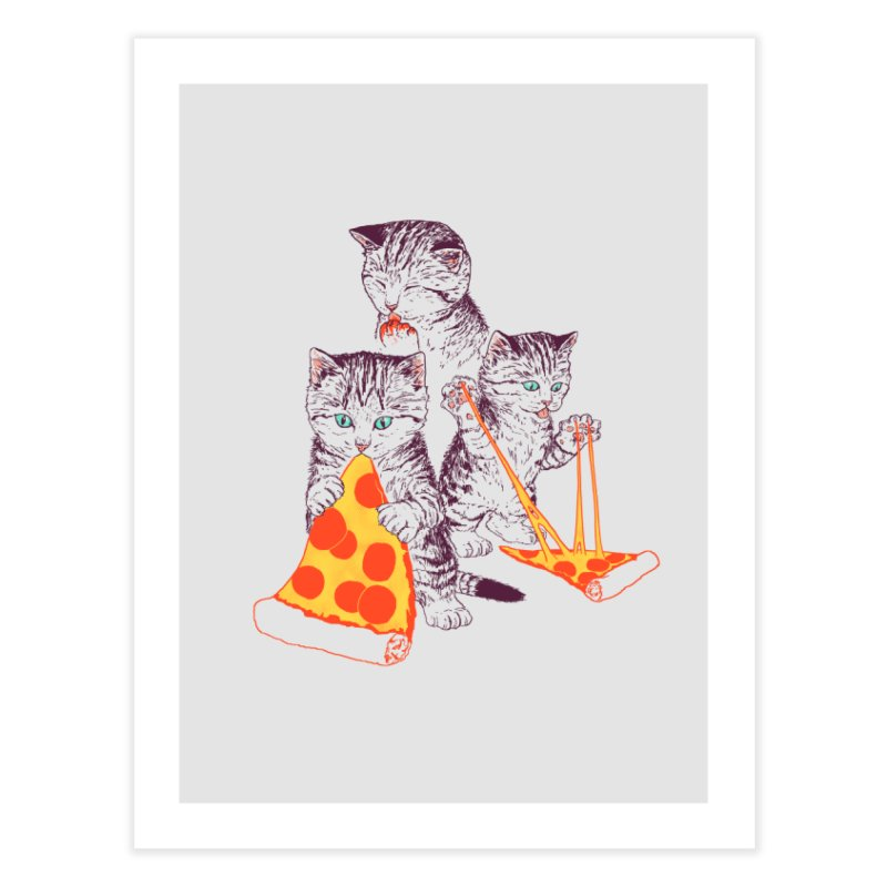 Pizza Kittens Home Fine Art Print by Hillary White