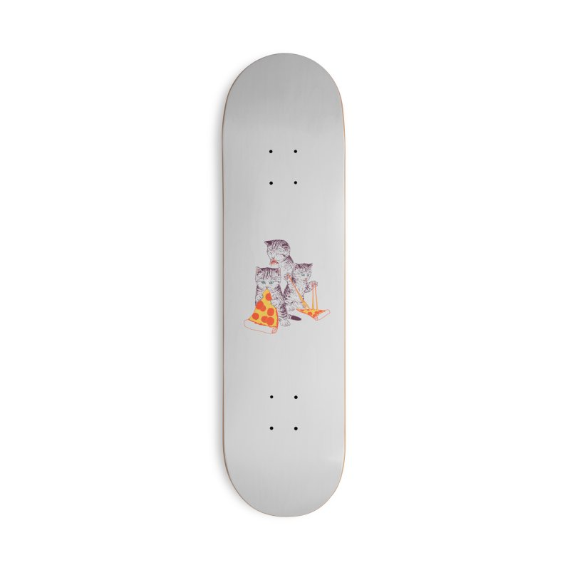 Pizza Kittens Accessories Deck Only Skateboard by Hillary White