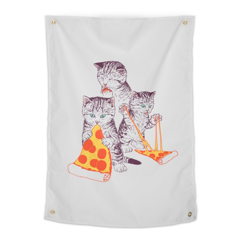 Pizza Kittens Home Tapestry by Hillary White