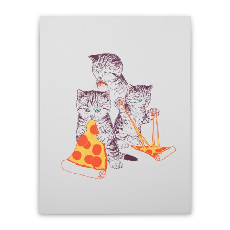Pizza Kittens Home Stretched Canvas by Hillary White