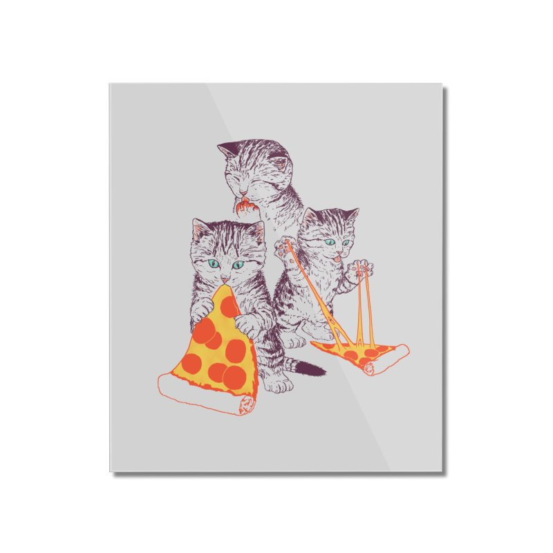 Pizza Kittens Home Mounted Acrylic Print by Hillary White
