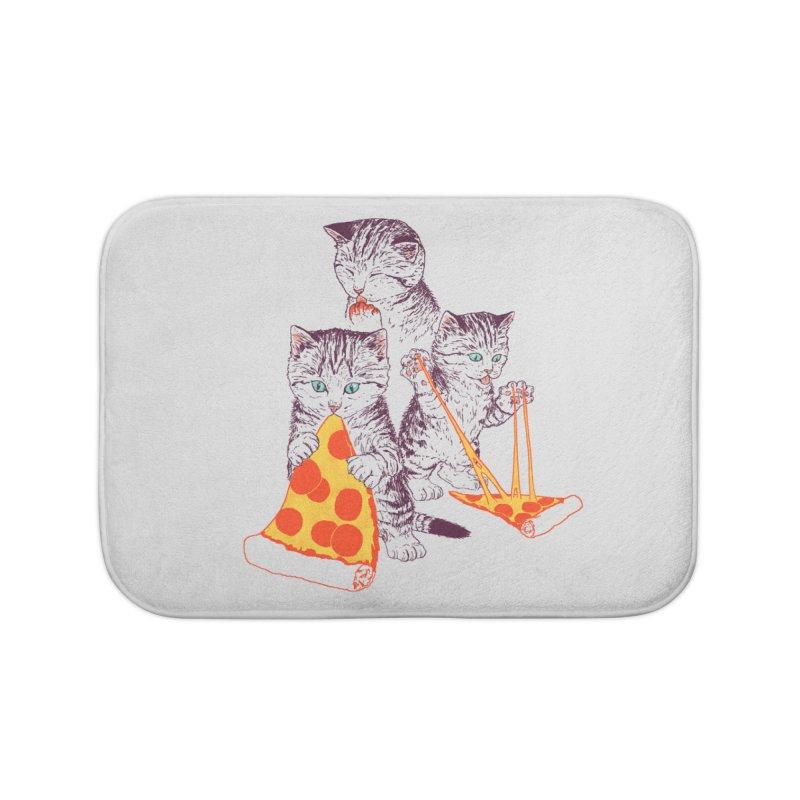 Pizza Kittens Home Bath Mat by Hillary White