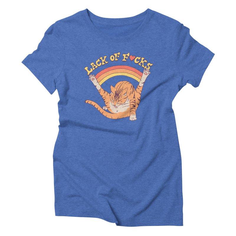 Lack Of F*cks Women's Triblend T-Shirt by Hillary White