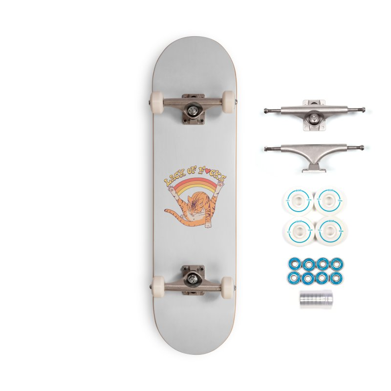 Lack Of F*cks Accessories Complete - Basic Skateboard by Hillary White