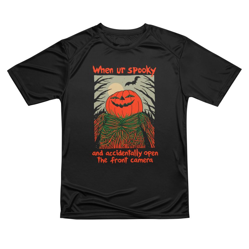 Spooky Selfie - dark shirt variant Men's Performance T-Shirt by Hillary White