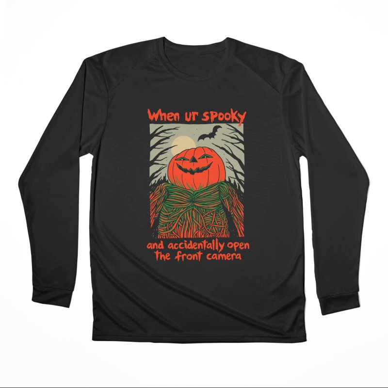Spooky Selfie - dark shirt variant Women's Performance Unisex Longsleeve T-Shirt by Hillary White