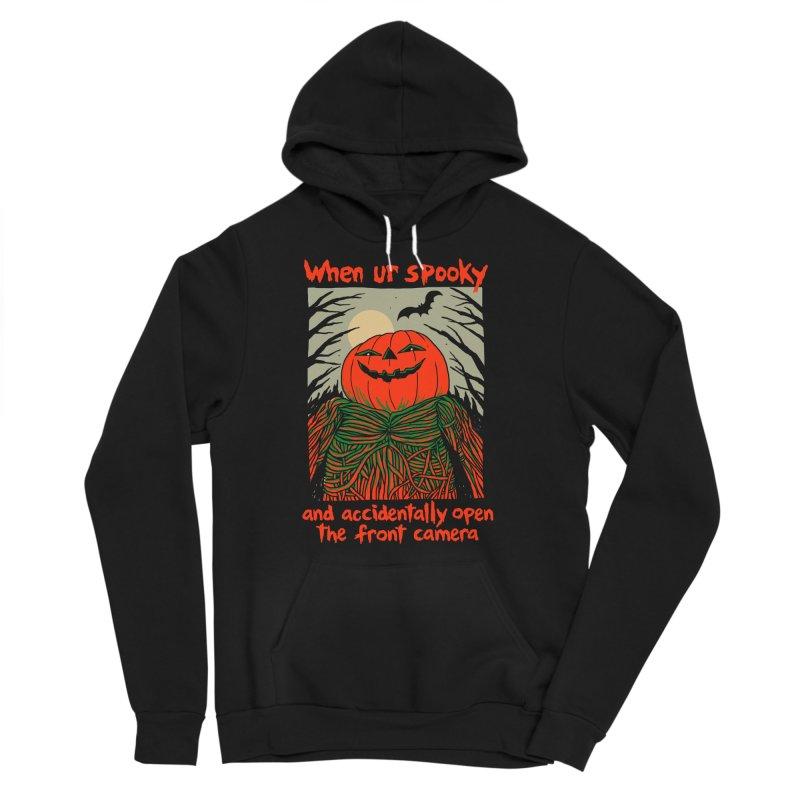 Spooky Selfie - dark shirt variant Men's Sponge Fleece Pullover Hoody by Hillary White
