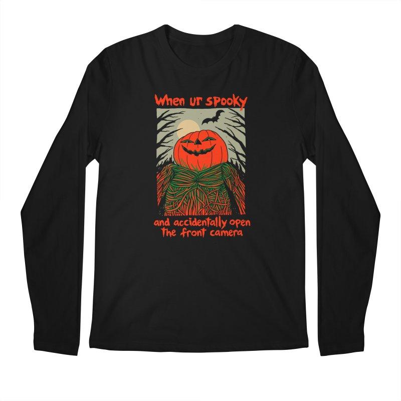 Spooky Selfie - dark shirt variant Men's Regular Longsleeve T-Shirt by Hillary White