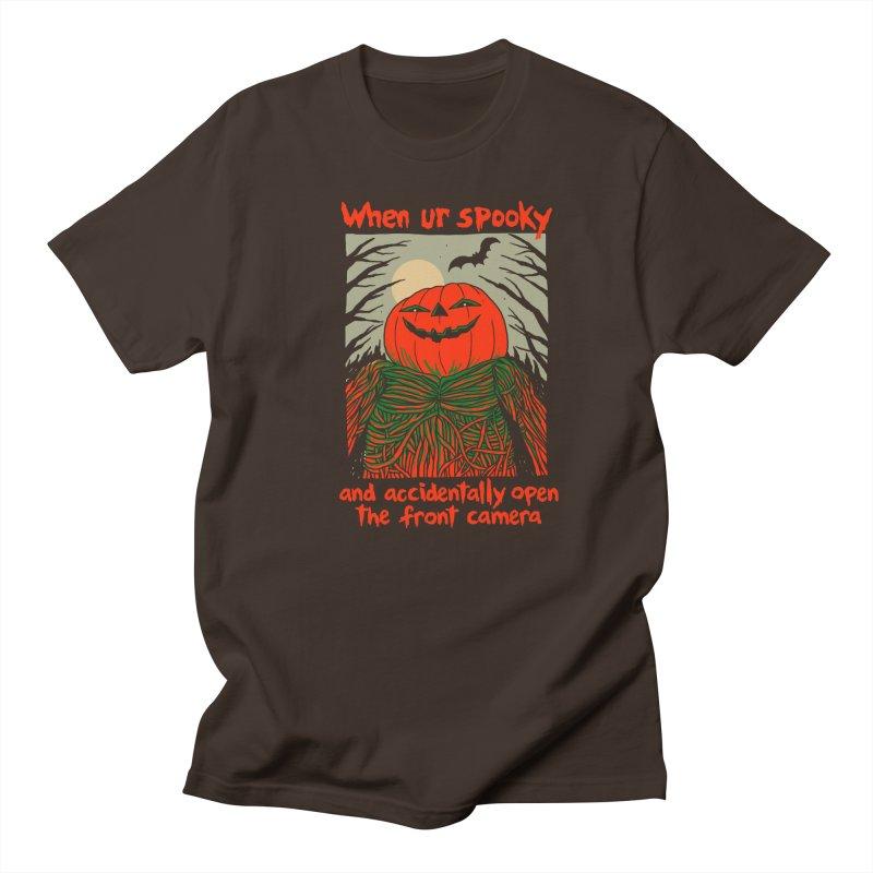 Spooky Selfie - dark shirt variant Men's Regular T-Shirt by Hillary White