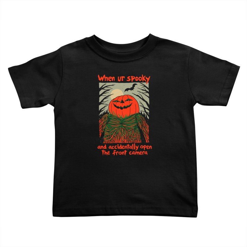 Spooky Selfie - dark shirt variant Kids Toddler T-Shirt by Hillary White
