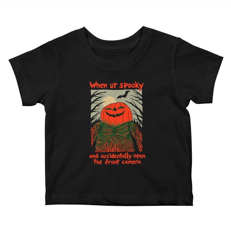 Spooky Selfie - dark shirt variant Kids Baby T-Shirt by Hillary White