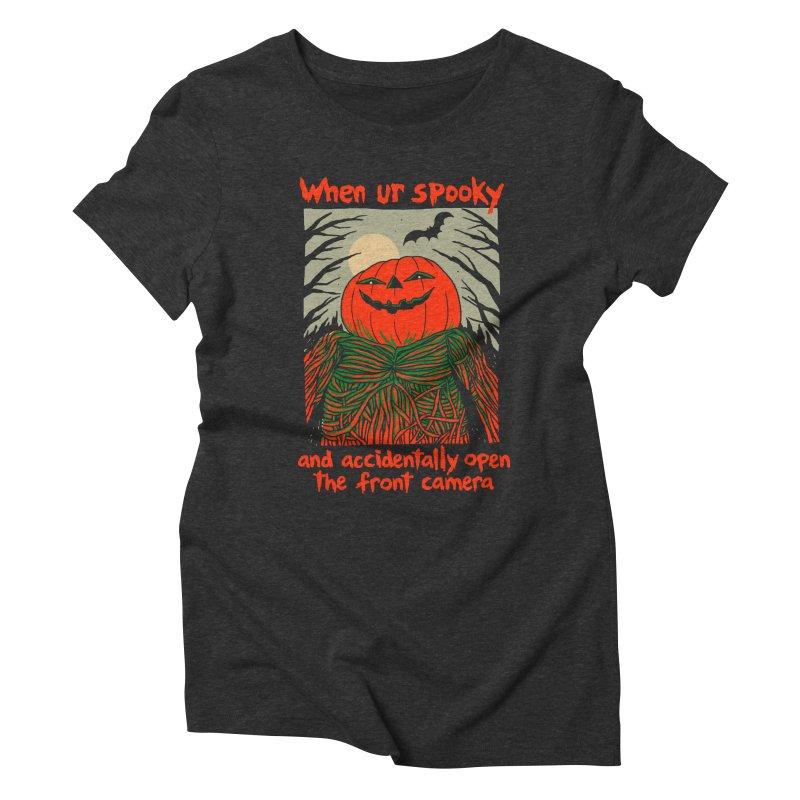 Spooky Selfie - dark shirt variant Women's Triblend T-Shirt by Hillary White