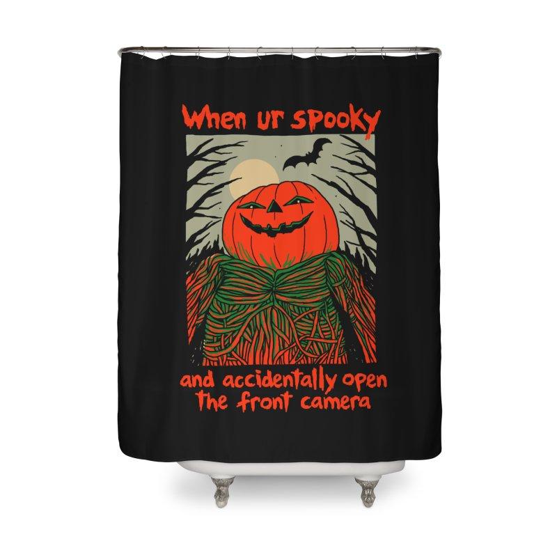 Spooky Selfie - dark shirt variant Home Shower Curtain by Hillary White