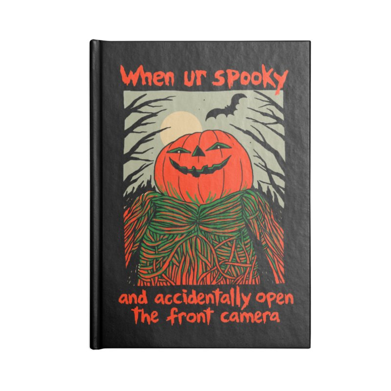 Spooky Selfie - dark shirt variant Accessories Blank Journal Notebook by Hillary White