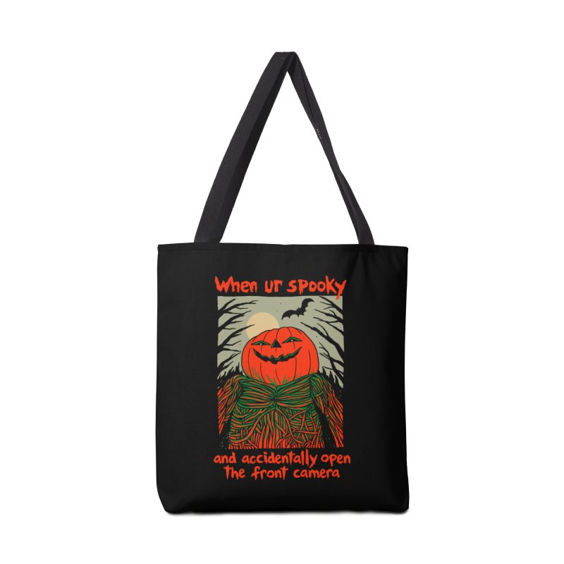 Spooky Selfie - dark shirt variant Accessories Tote Bag Bag by Hillary White
