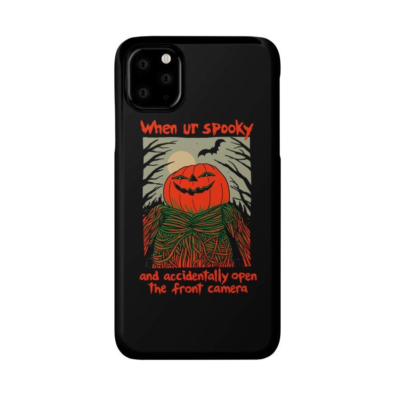 Spooky Selfie - dark shirt variant Accessories Phone Case by Hillary White