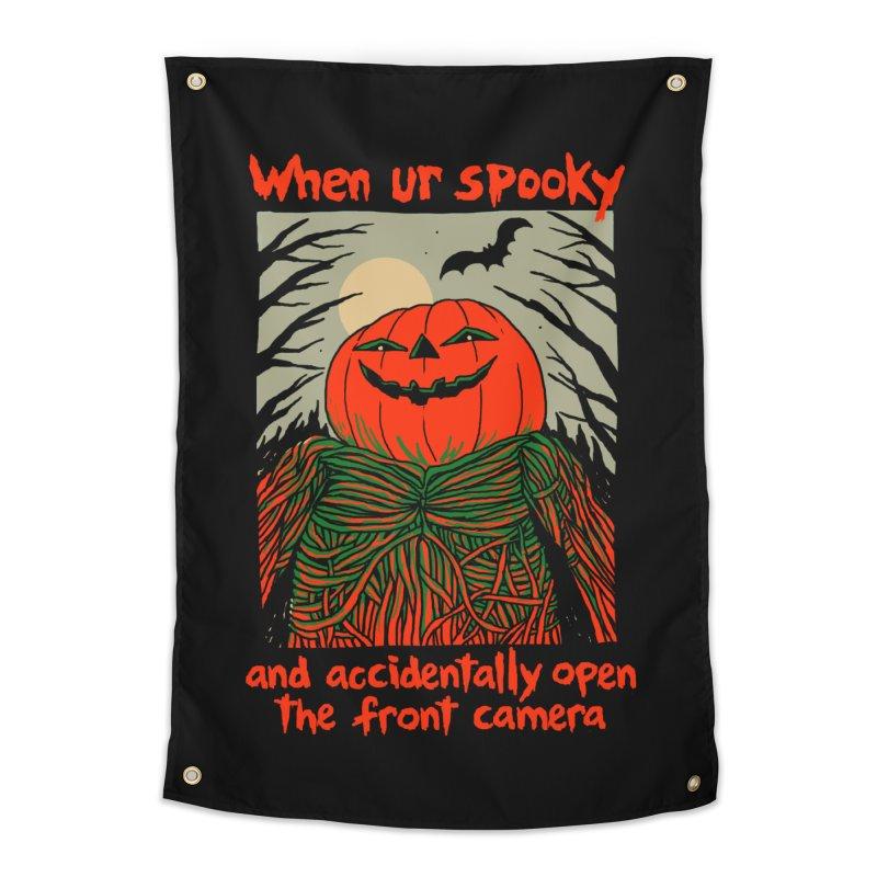 Spooky Selfie - dark shirt variant Home Tapestry by Hillary White