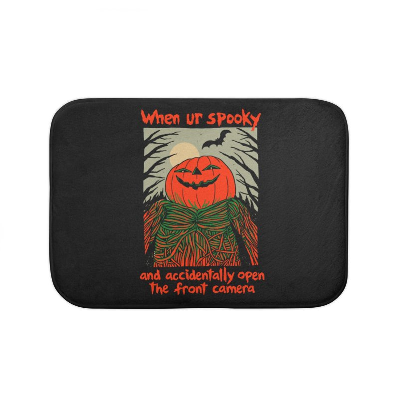 Spooky Selfie - dark shirt variant Home Bath Mat by Hillary White