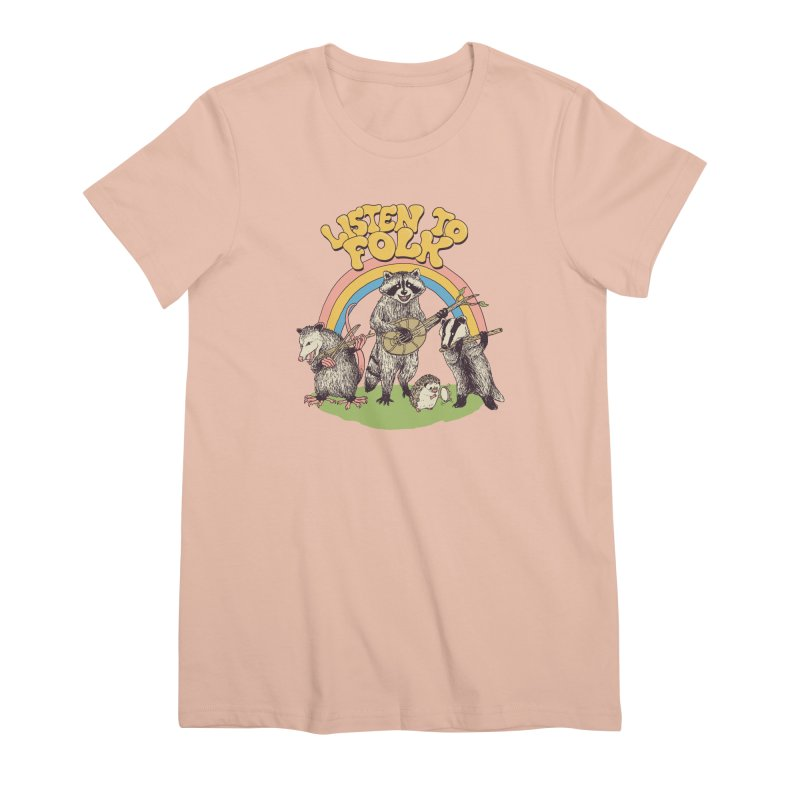 Listen To Folk Women's Premium T-Shirt by Hillary White