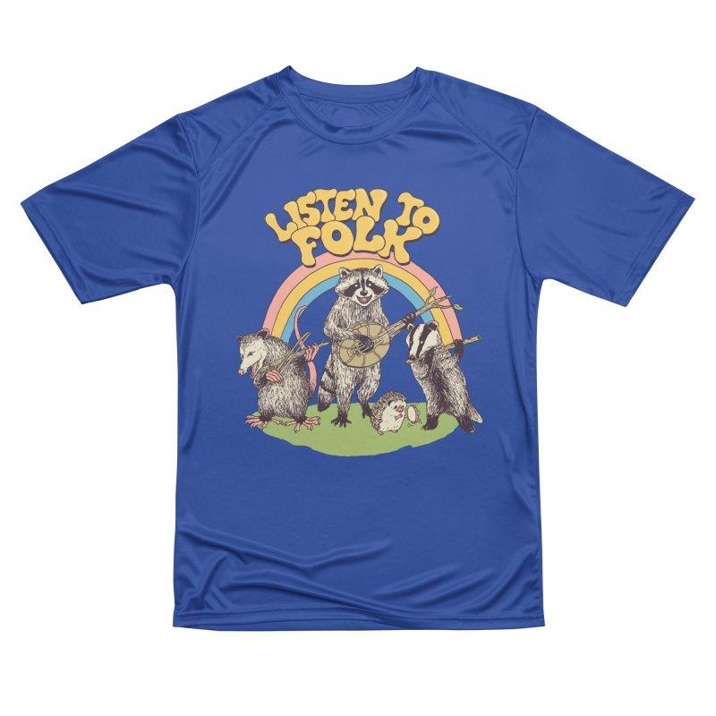 Listen To Folk Men's Performance T-Shirt by Hillary White
