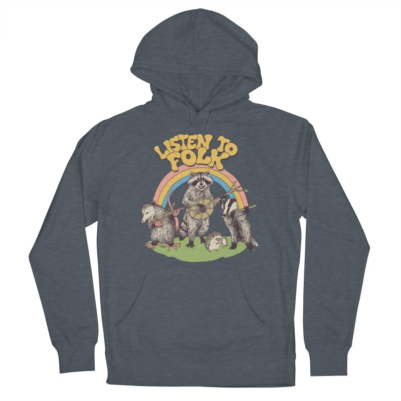 Listen To Folk Men's French Terry Pullover Hoody by Hillary White