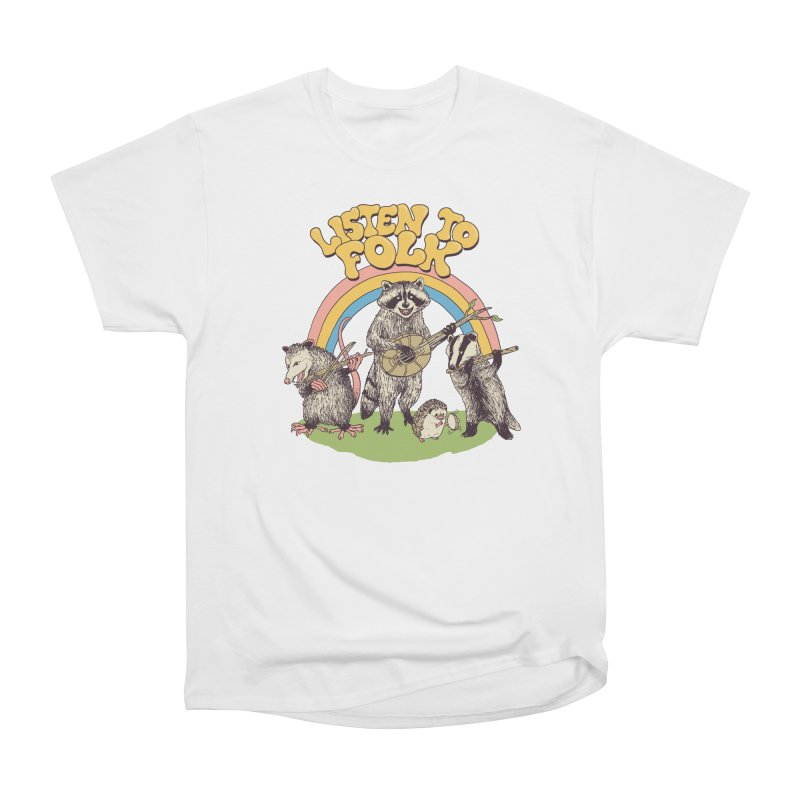 Listen To Folk Men's Heavyweight T-Shirt by Hillary White