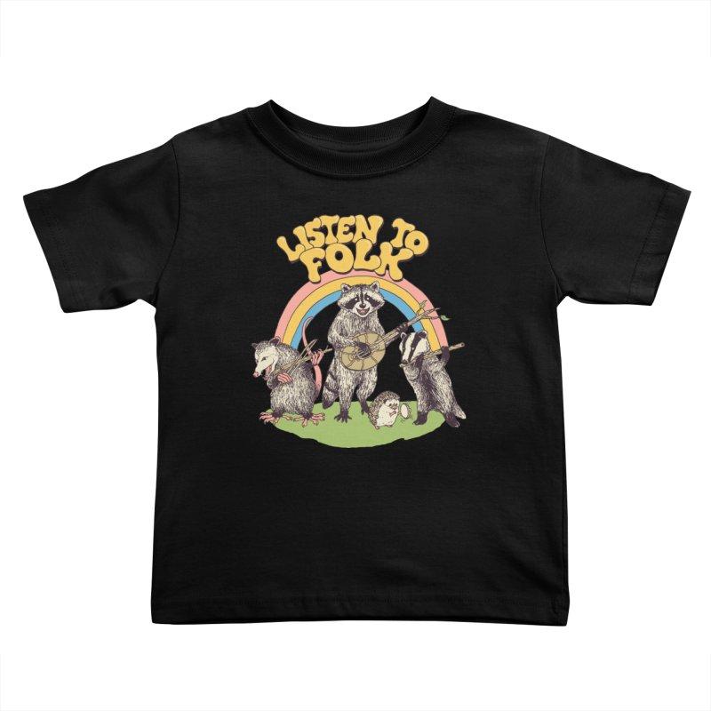 Listen To Folk Kids Toddler T-Shirt by Hillary White