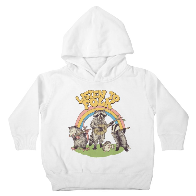 Listen To Folk Kids Toddler Pullover Hoody by Hillary White