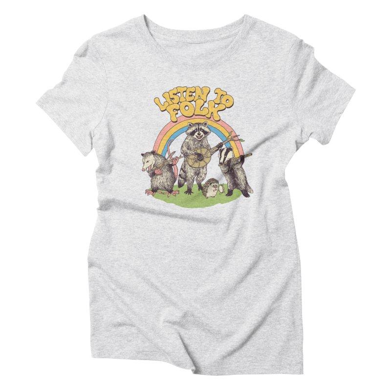 Listen To Folk Women's Triblend T-Shirt by Hillary White