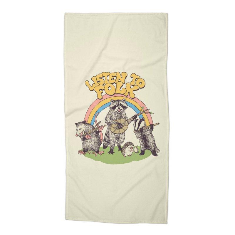 Listen To Folk Accessories Beach Towel by Hillary White