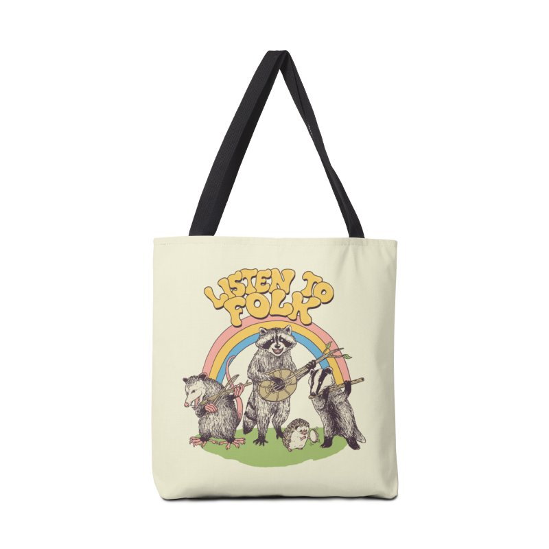 Listen To Folk Accessories Tote Bag Bag by Hillary White