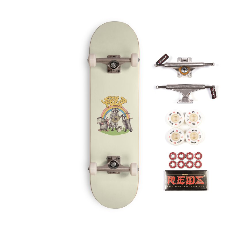 Listen To Folk Accessories Complete - Pro Skateboard by Hillary White