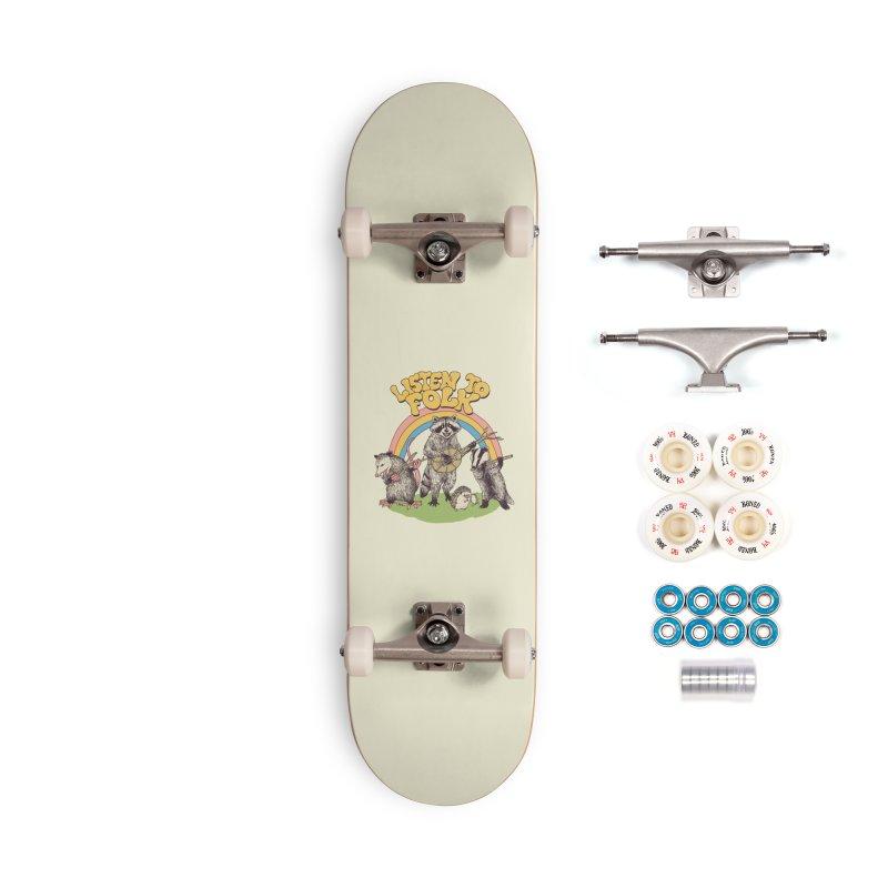 Listen To Folk Accessories Complete - Premium Skateboard by Hillary White