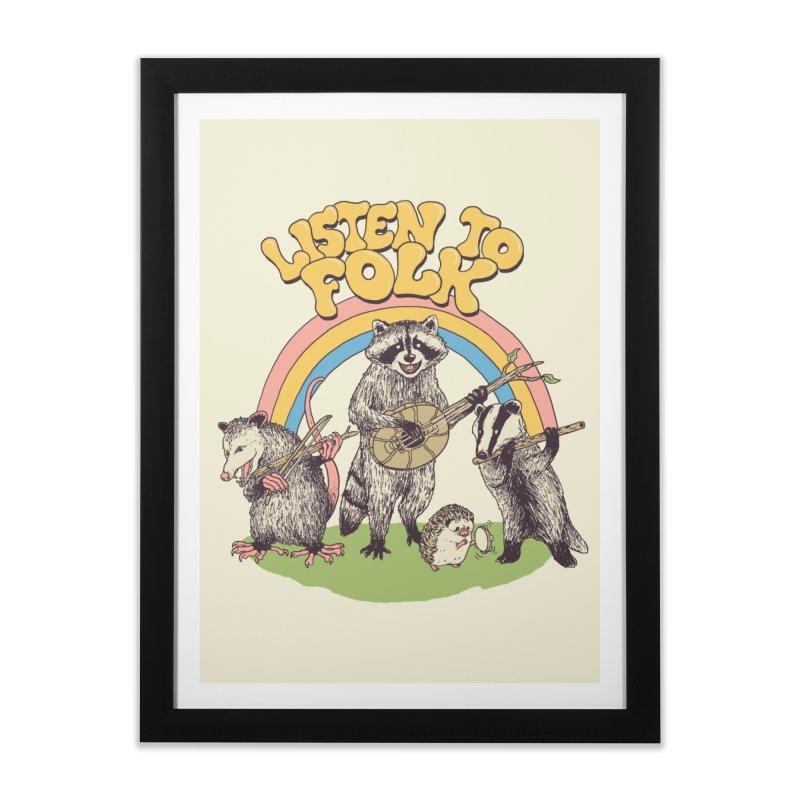 Listen To Folk Home Framed Fine Art Print by Hillary White