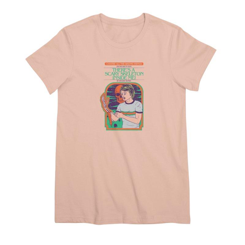 Scary Skeleton Women's Premium T-Shirt by Hillary White
