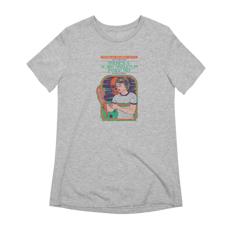 Scary Skeleton Women's Extra Soft T-Shirt by Hillary White
