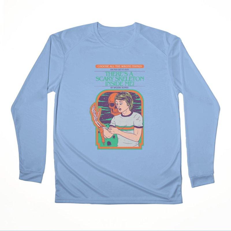 Scary Skeleton Women's Performance Unisex Longsleeve T-Shirt by Hillary White