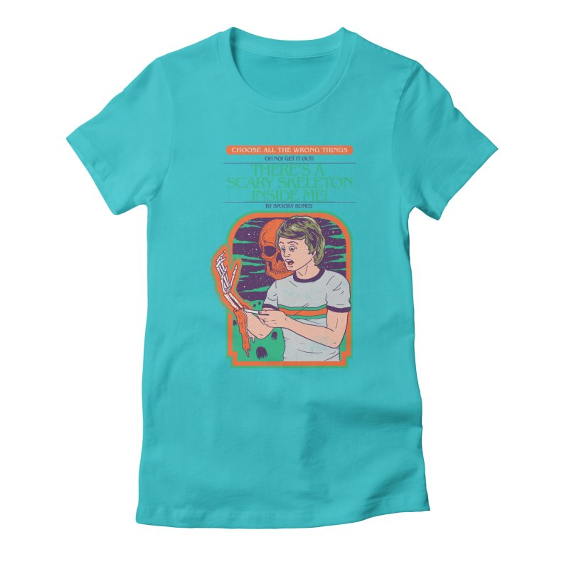Scary Skeleton Women's Fitted T-Shirt by Hillary White
