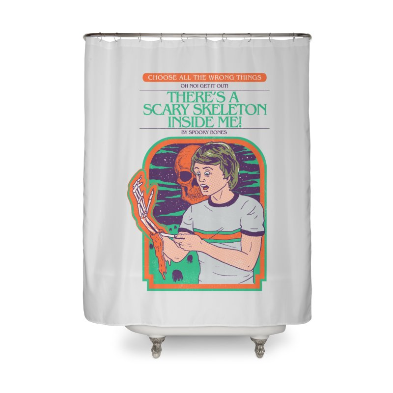 Scary Skeleton Home Shower Curtain by Hillary White